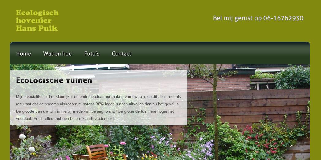 Hans Puik ecologische hovenier