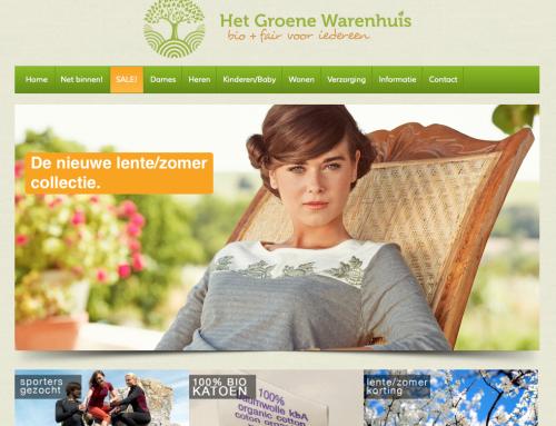 Nieuwe website hetgroenewarenhuis.nl