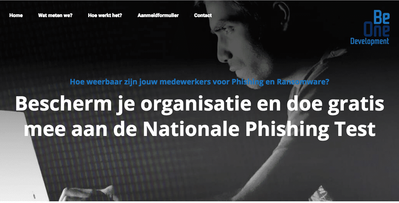 De nationale phishing test